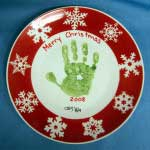 Christmas plate after