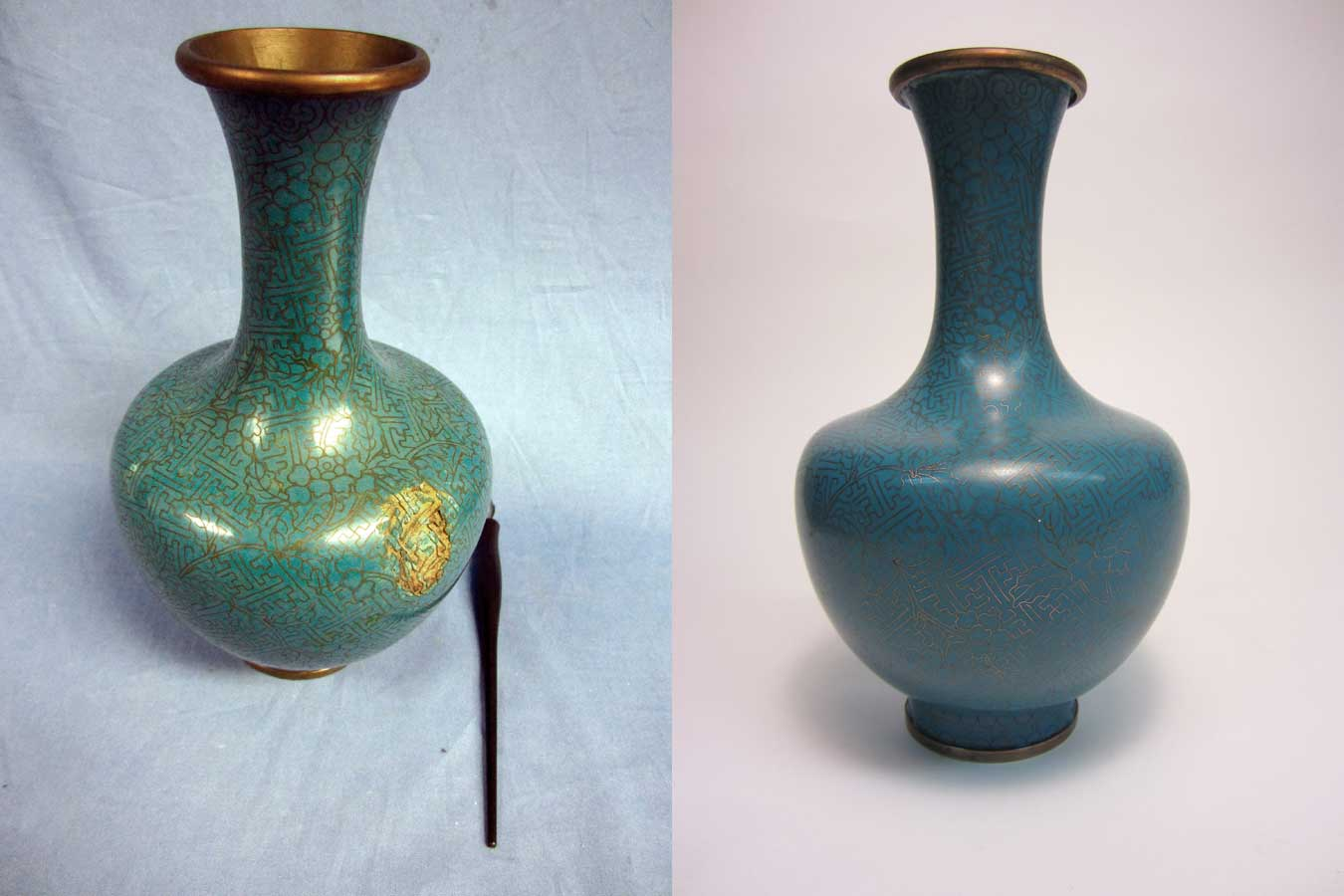Japanese Antique Cloisonne Vase Restoration Services